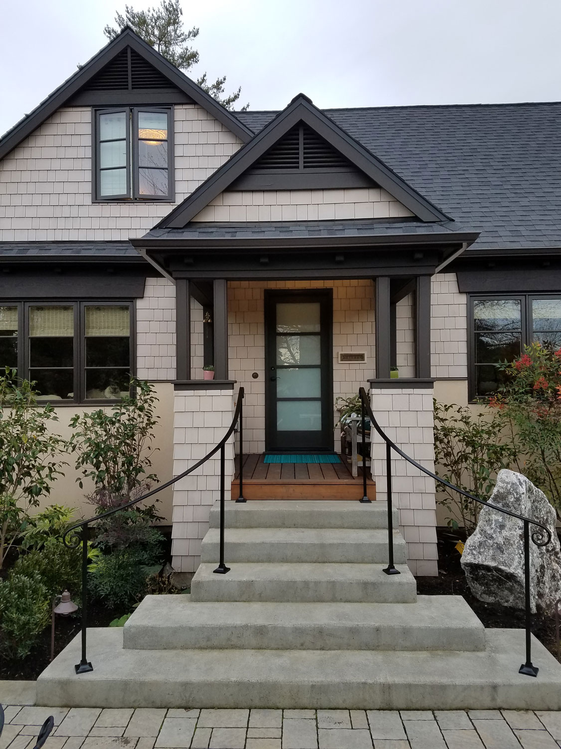 Traditional Front Entrance Railings by Blackbird Iron - Full House - Seattle, WA