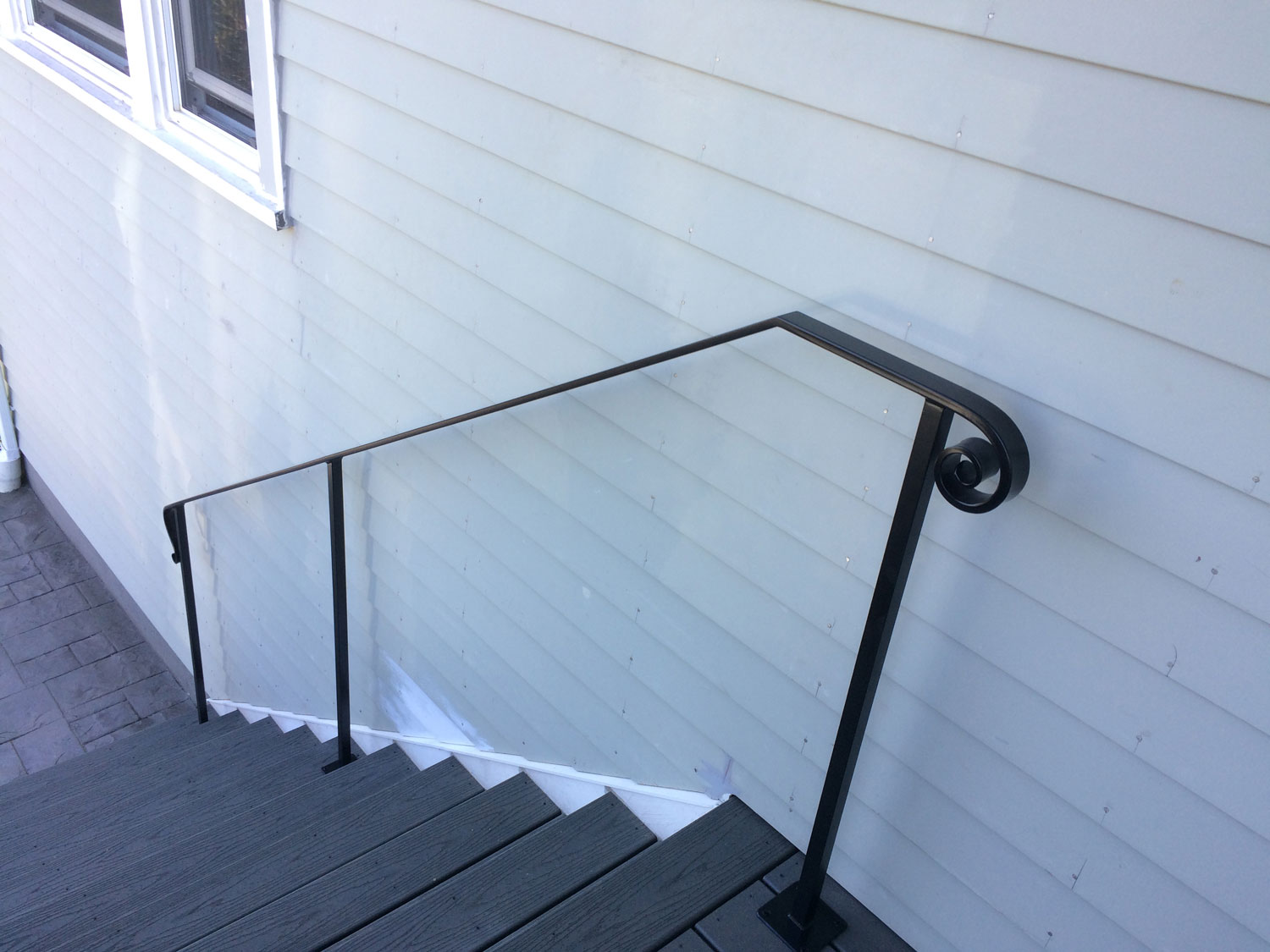 Traditional Exterior Handrail View From Top - Seattle, WA