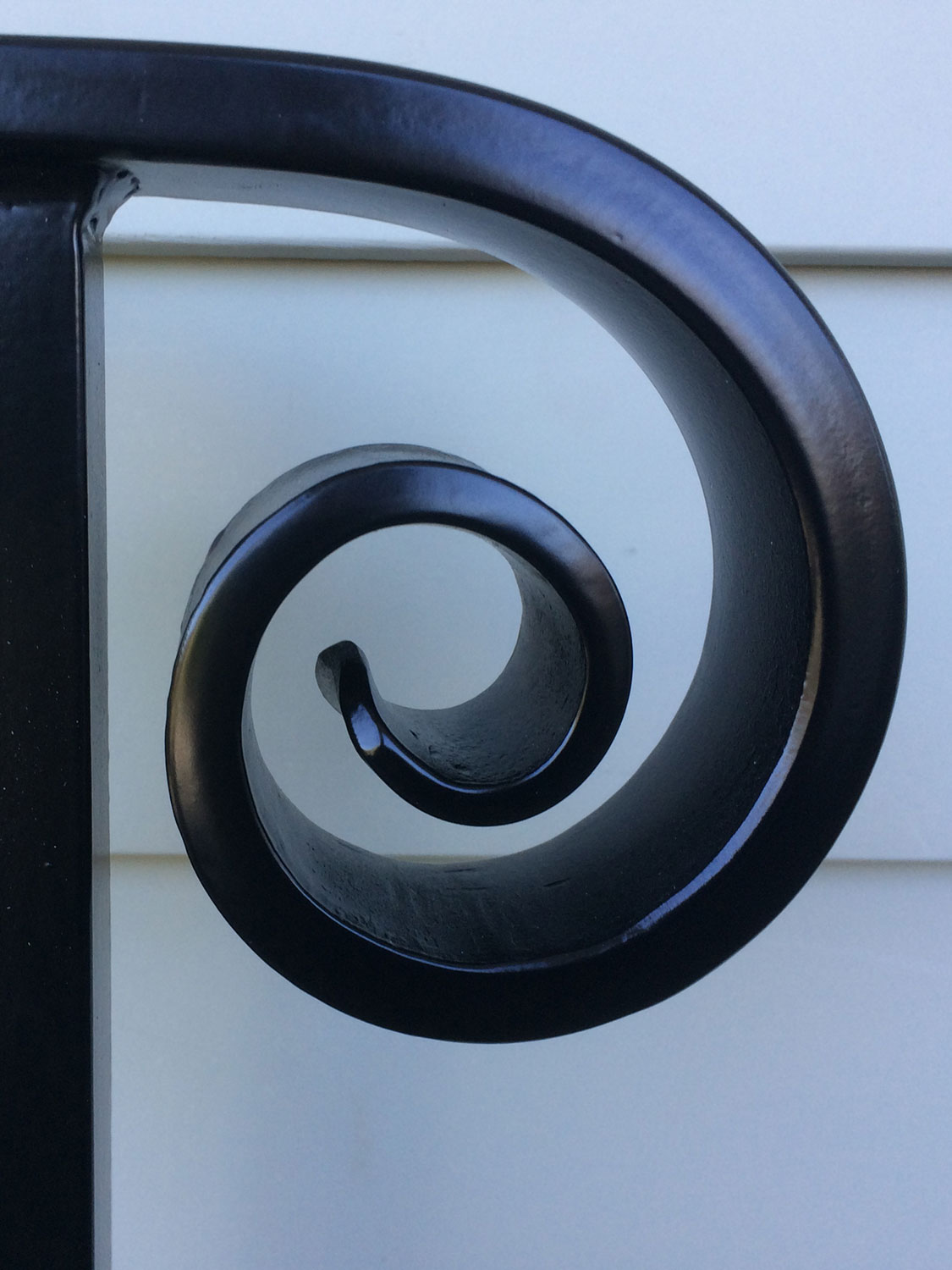 Traditional Exterior Handrail Closeup
