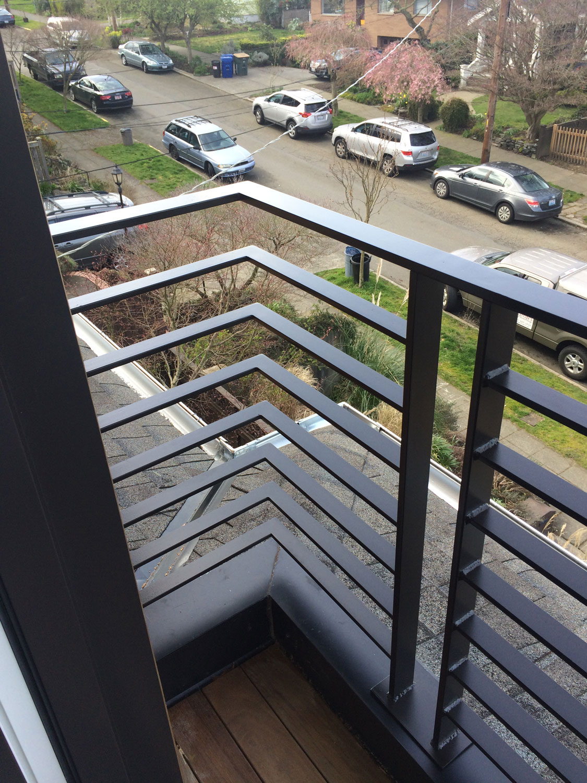 Balcony Fence Design: Blackbird Iron & Design