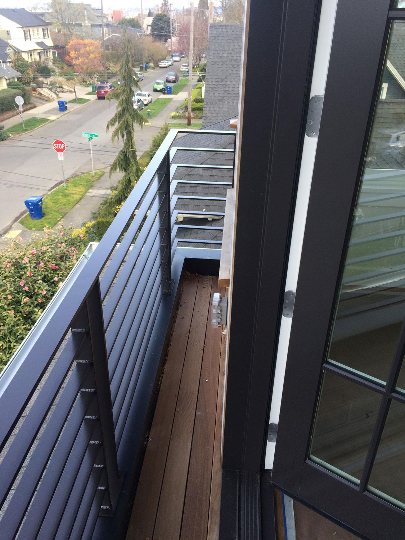 Modern Balcony Railing - Seattle, WA - Blackbird Iron & Design