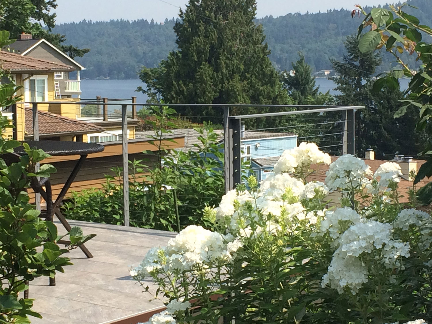 Cable Rail for Back Deck - Beautiful View - Seattle, WA