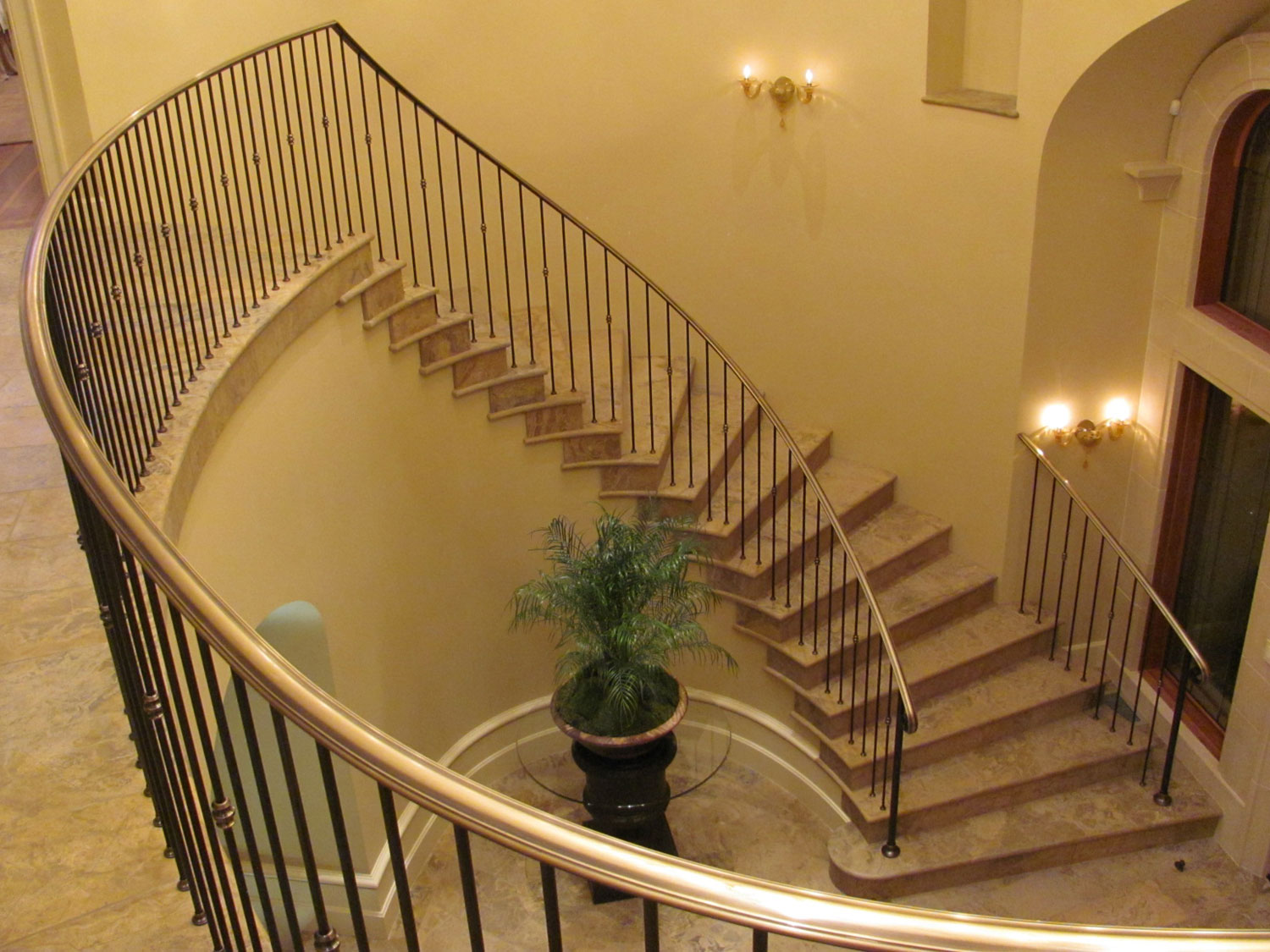 Elegant Pitch and Curved Railing - Full Overhead View - Seattle, WA