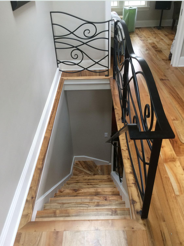 Ornamental Staircase Railings - Going Down - Seattle, WA
