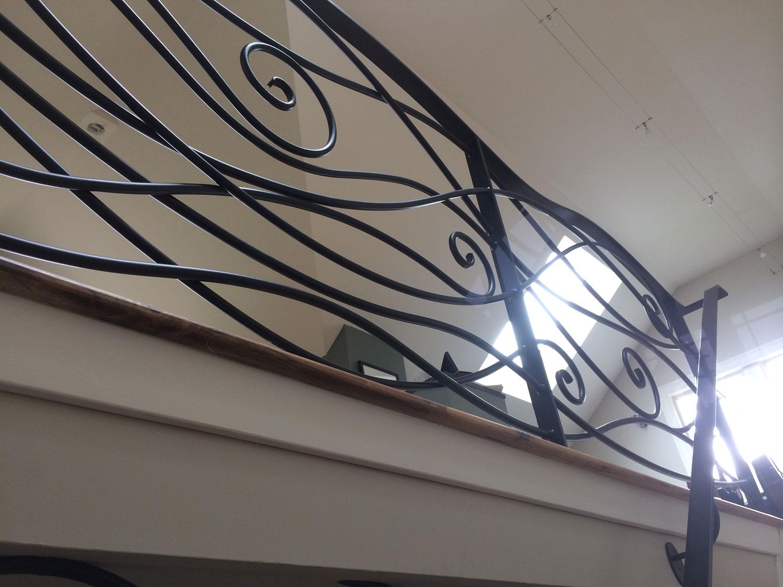 Ornamental Staircase Railings - Upstairs Railing - Seattle, WA