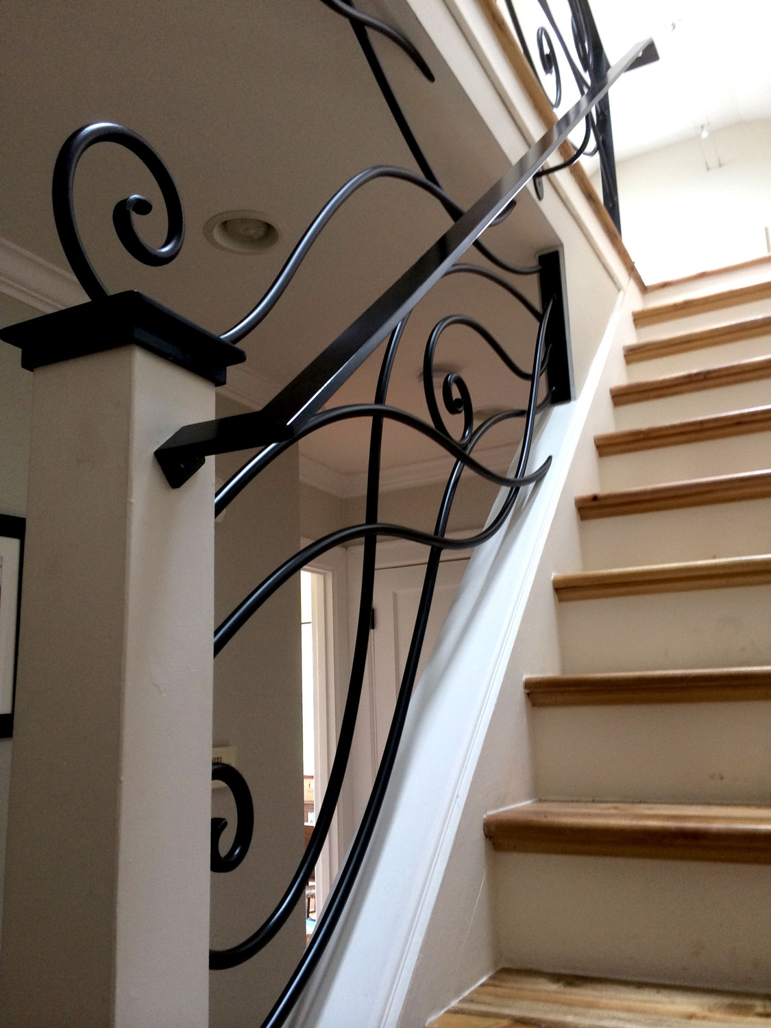Ornamental Staircase Railings - Going Up - Seattle, WA