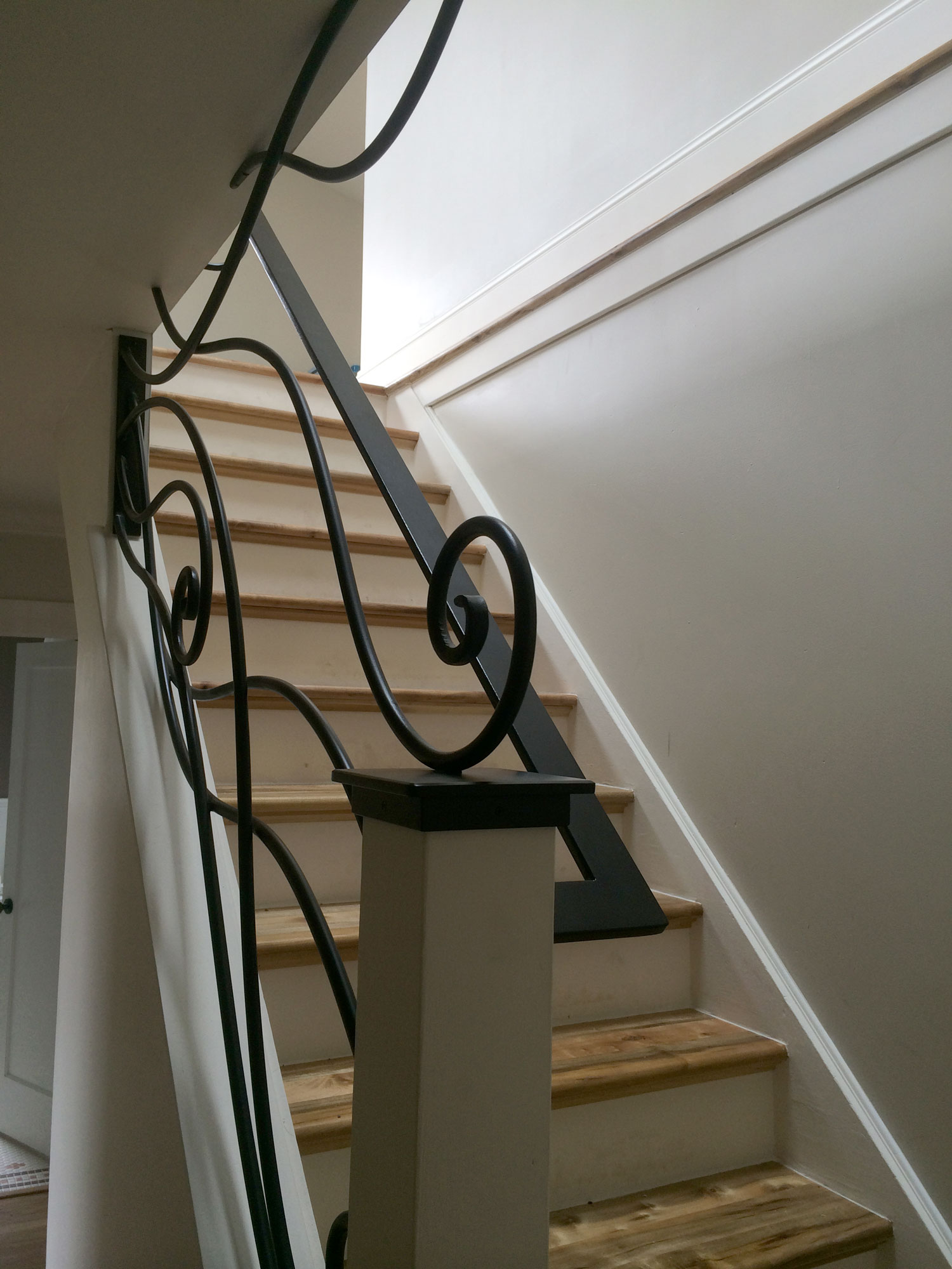 Ornamental Staircase Railings Side View - Seattle, WA