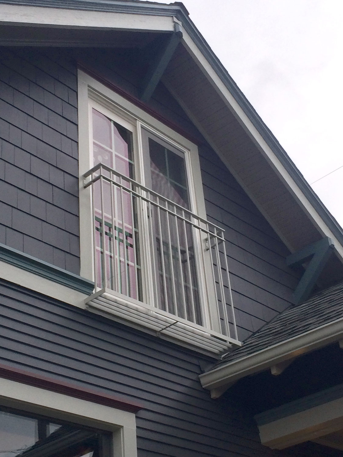 Iron Balcony Guardrail for Second Story Window - Seattle, WA