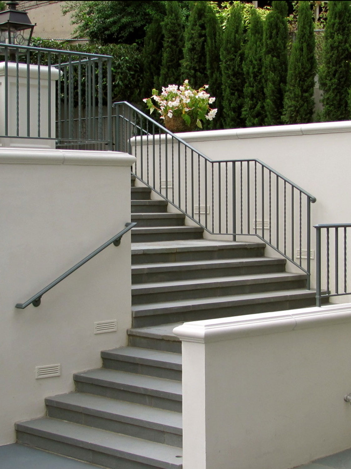 Iron Handrails and Guardrails for Slate Patio - Featured Image