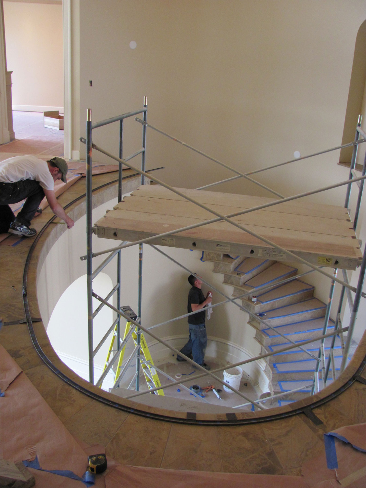 The Making of an Elegant Pitch and Curved Railing - Setting Up Scaffolding - Seattle, WA