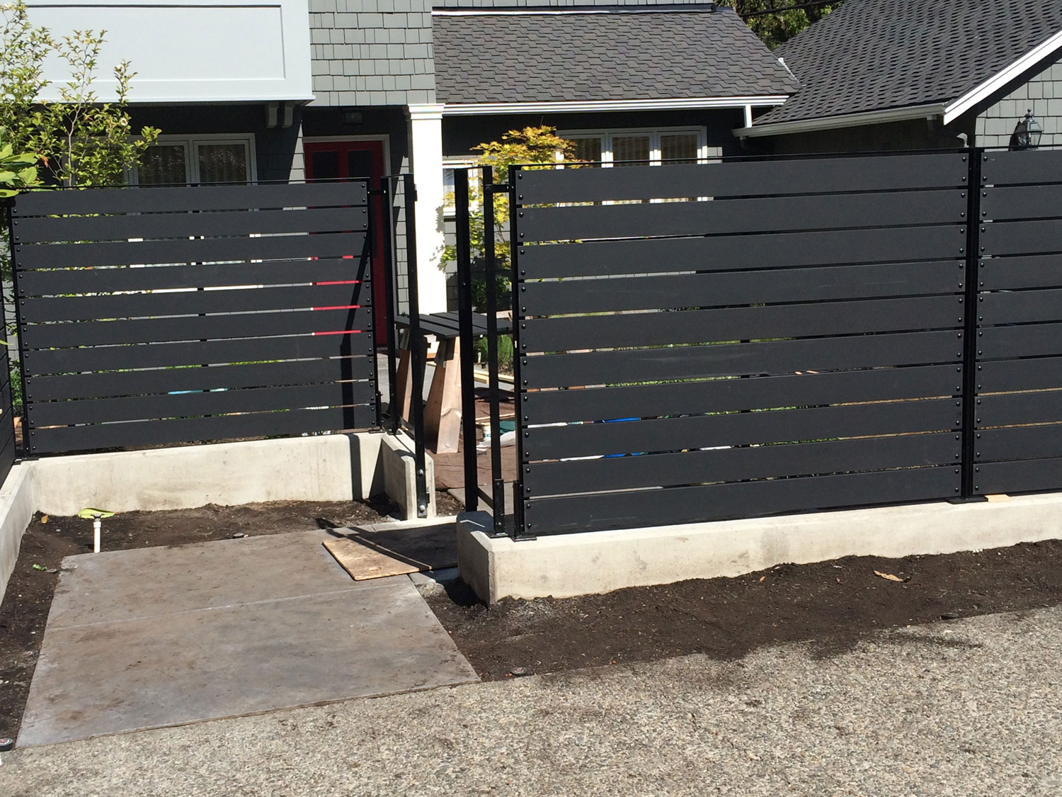 Modern Backyard Fence & Gate Installation - Seattle, WA