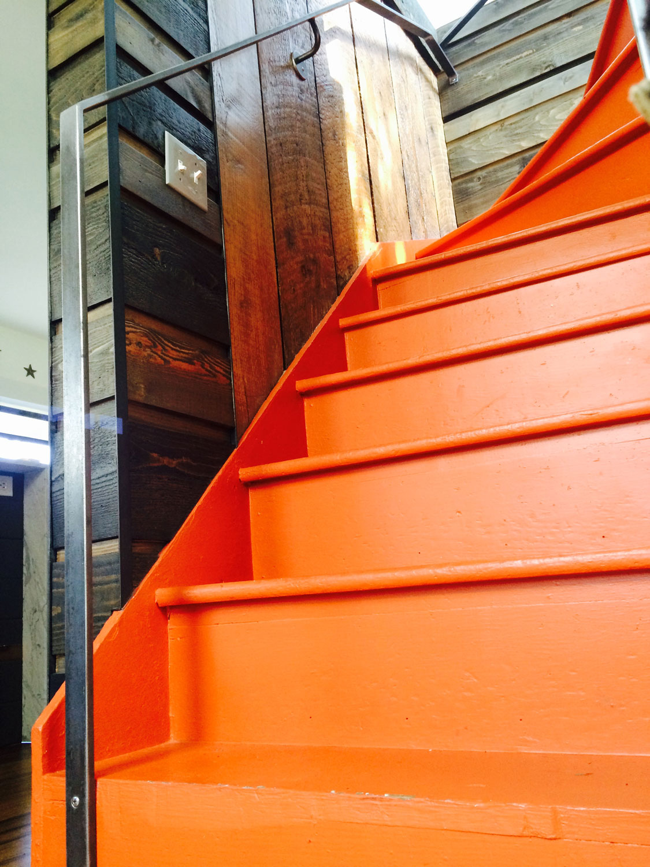 Modern Interior Iron Railing - Side View - Seattle, WA