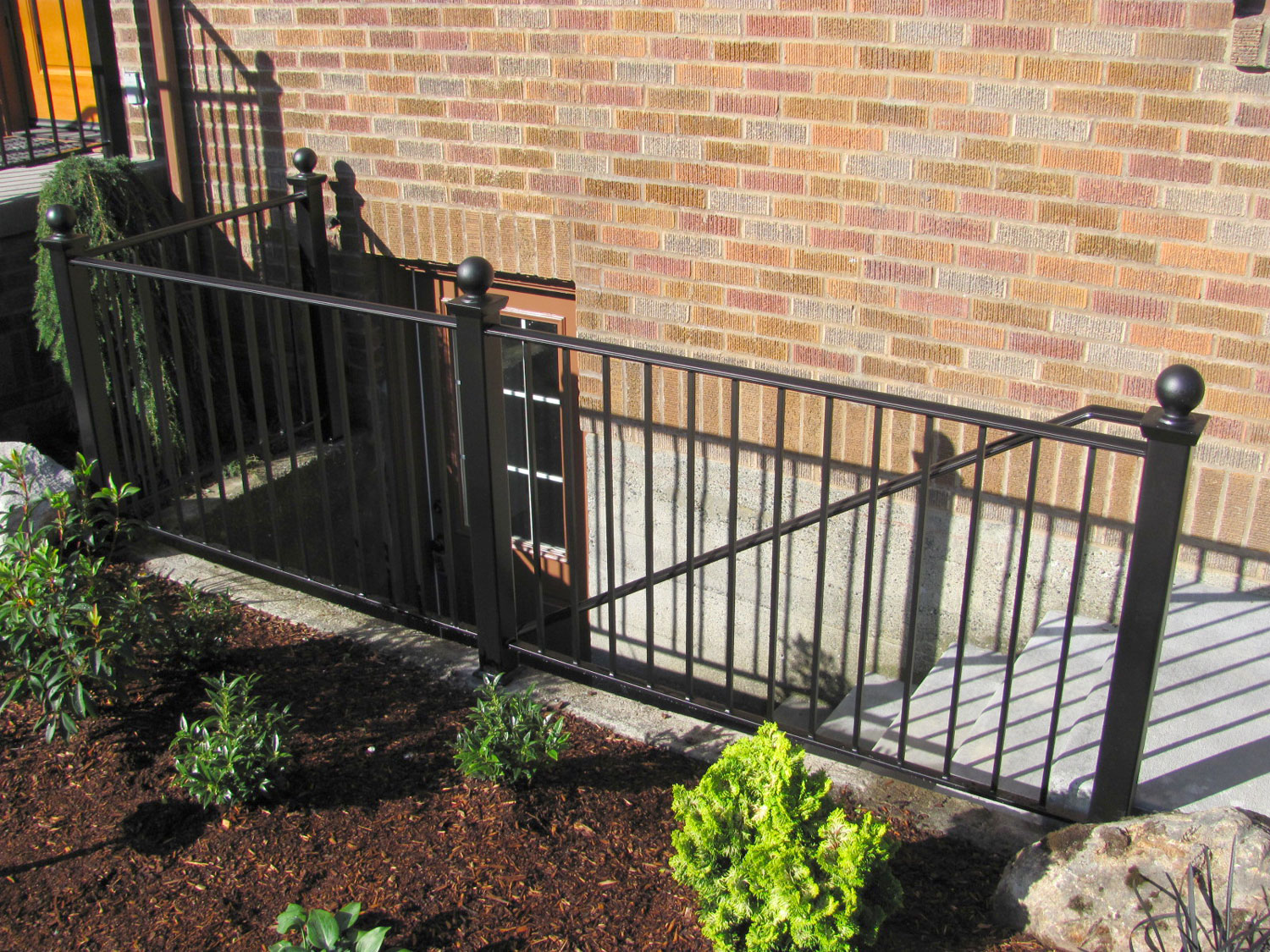 Handrail and Guardrail for Exterior Basement Steps - Seattle, WA