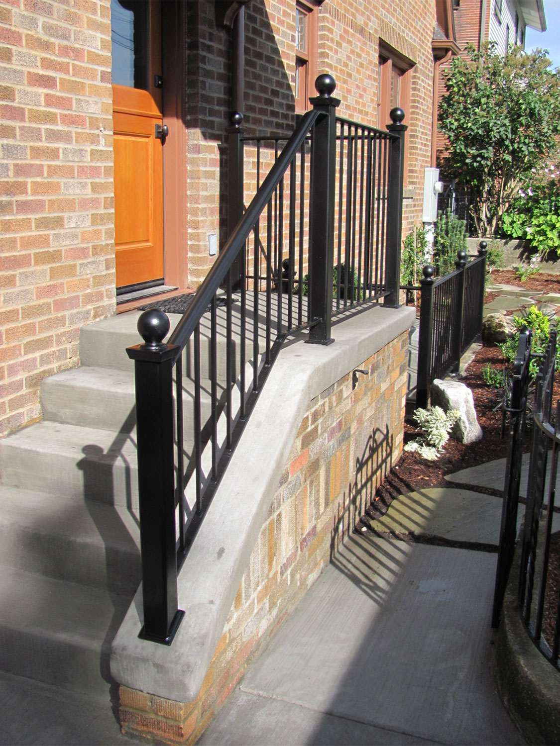 Handrail and Guardrail for Back Entrance