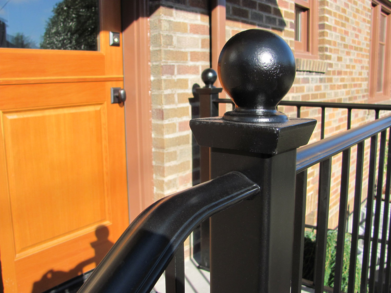 Handrail and Guardrail for Back Entrance - Closeup - Seattle, WA