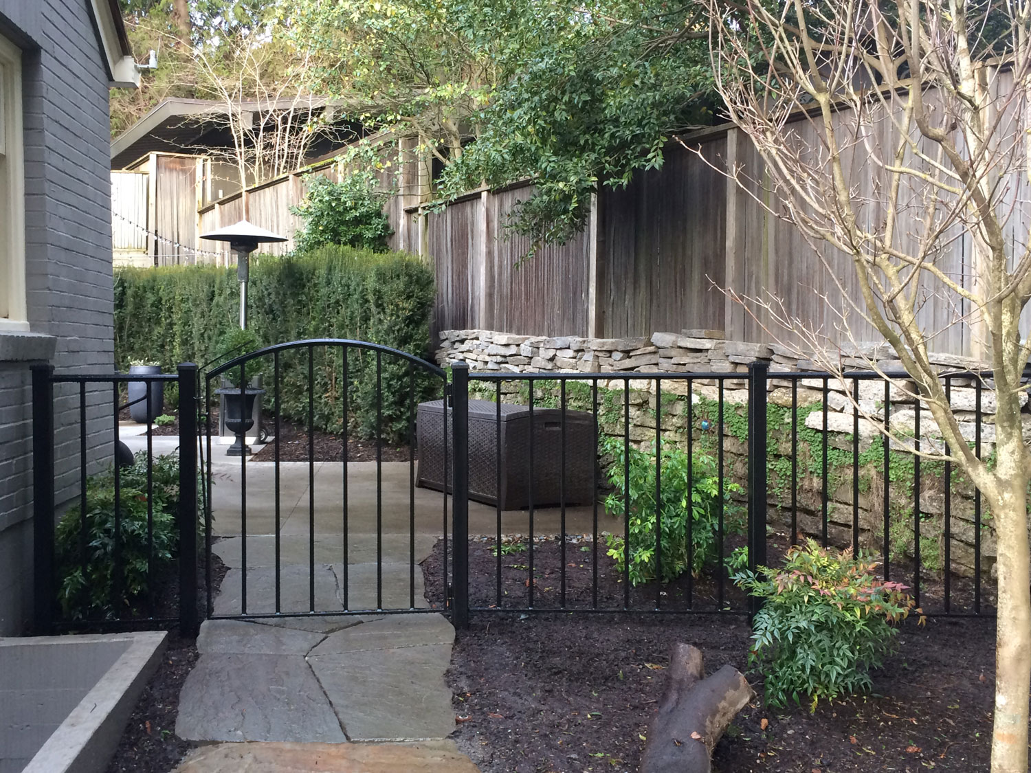 Iron Gate and Fence - Side Entrance - Seattle, WA