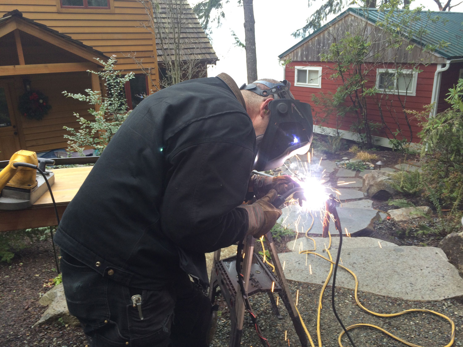 Installing Hand Forged Iron Handrails - Seattle, WA