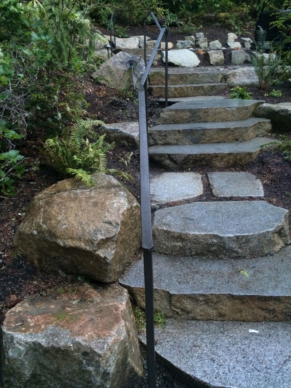 Extensive Hand Forged Iron Handrails - Seattle, WA