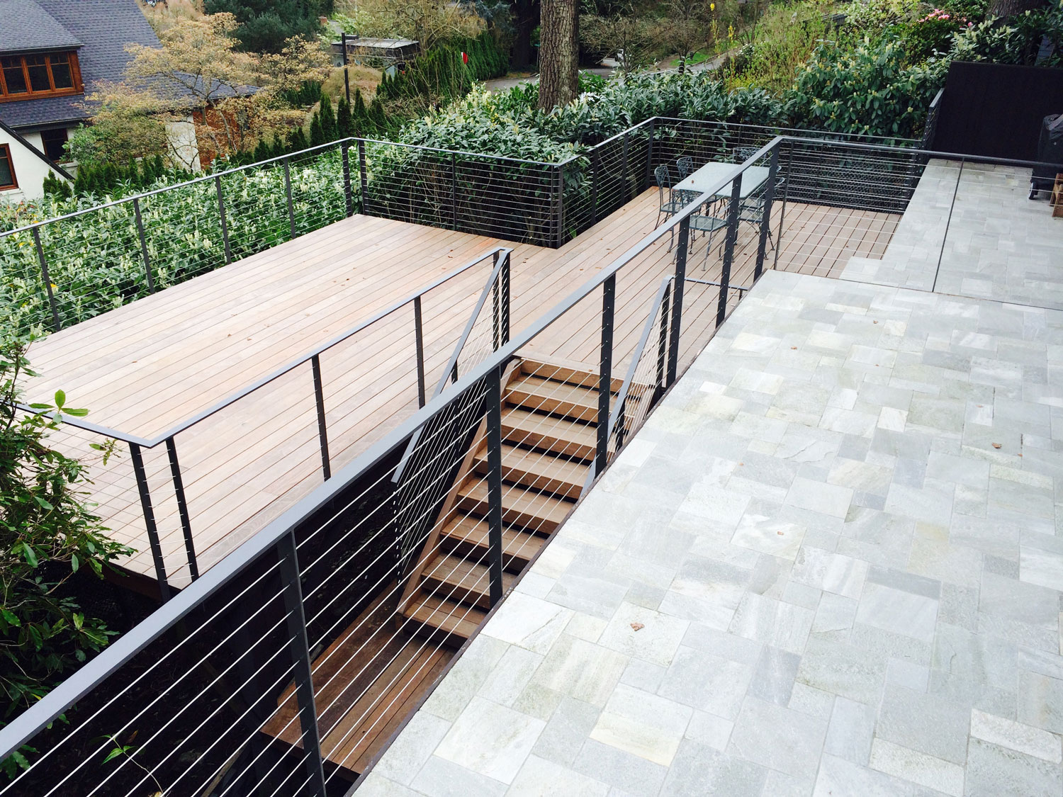 Cable Rail for a Large Deck with a View - Seattle, WA ...