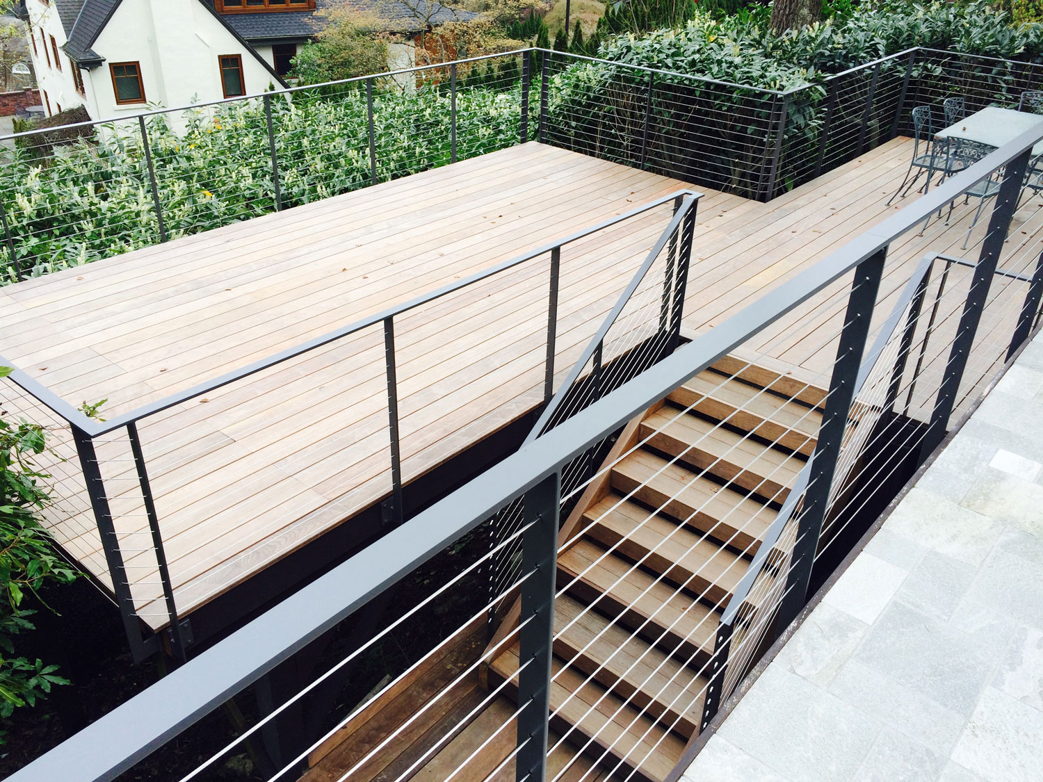 - Seattle, WACable Rail for Large Deck - Overhead of Stairs