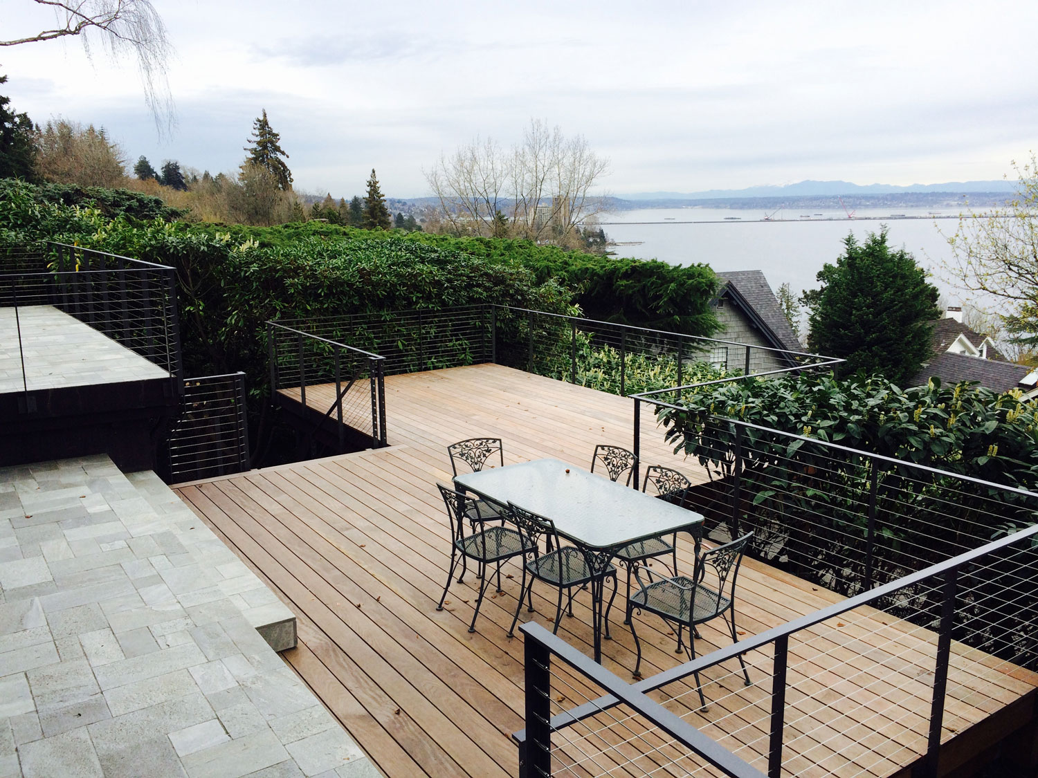 Cable Rail for Large Deck - View - Seattle, WA