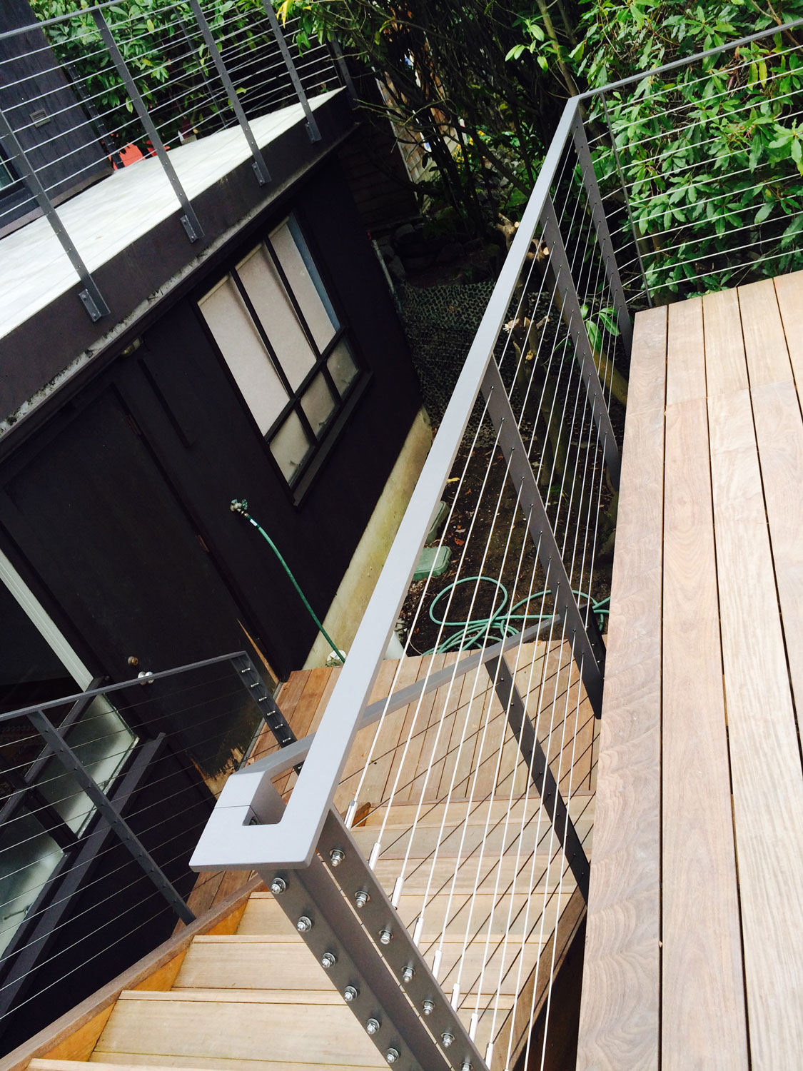 Cable Rail for Large Deck - Handrail - Seattle, WA